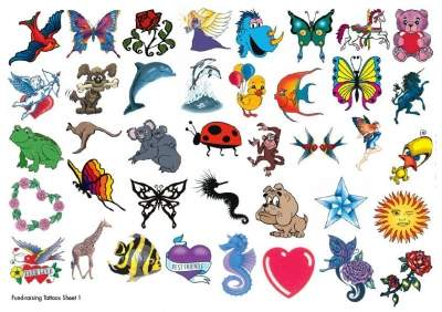 Cute Fund Raising Temporary Tattoos1