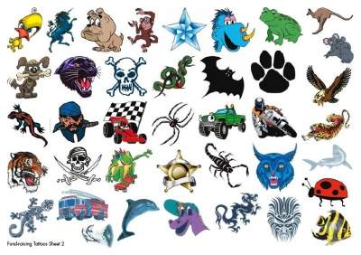 Cute Fund Raising Temporary Tattoos2