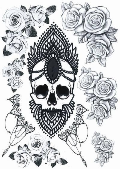 1xA4 Sheet Gangst  UB 3 Temporary Tattoos