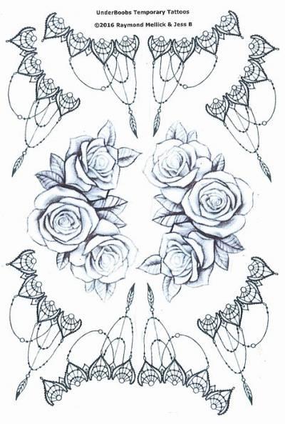 1xA4 Sheet Gangsta UB 4 Temporary Tattoos