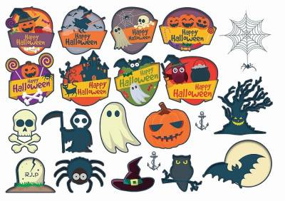 1xA4 Sheet Halloween 1 Temporary Tattoos