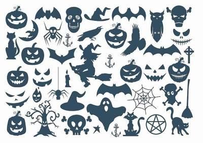 1xA4 Sheet Halloween 2 Temporary Tattoos