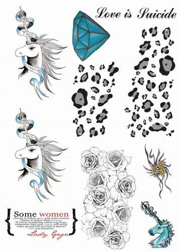 Lady Gaga Inspired Temporary Tattoos