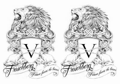 1xA4 Sheet LionFrog 2up Temporary Tattoos