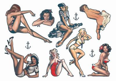 Pin Up Temporary Tattoos 1