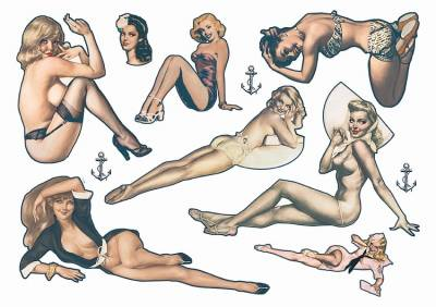 Pin Up Temporary Tattoos 2