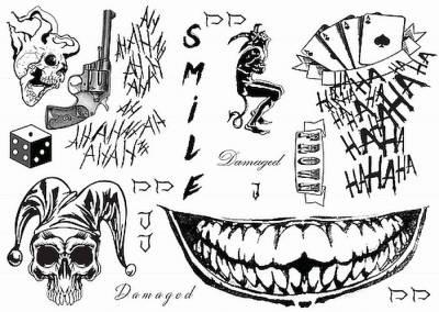 1xA4 S Squad Temporary Tattoos