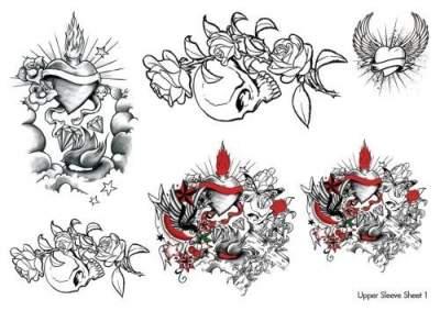 Upper Sleeve Temporary Tattoos