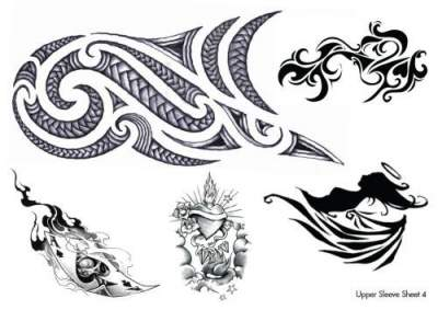 Upper Sleeve Temporary Tattoos