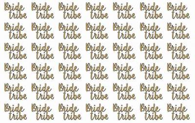 42 Hens Bride Tribe 30mmx40mm Tattoos Template 4