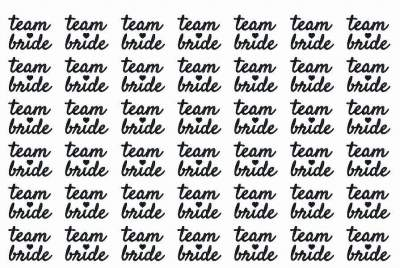42 Hens Team Bride Black 30mmx40mm Tattoos Template 6