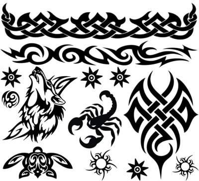 Black Blue Tattoos 1