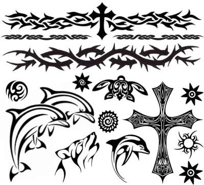 Black Blue Tattoos 2