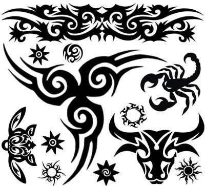 Black Blue Tattoos 3