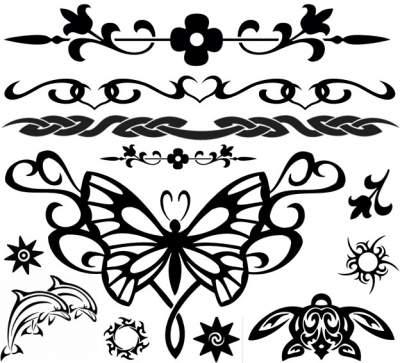 Black Blue Tattoos 5