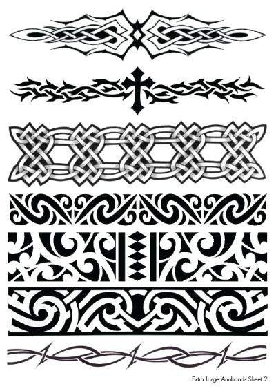 Extra Large Black Henna Temporary Tattoos