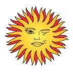 Yellow Sun Temporary Tattoos