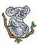 No 45A Cute Koala Temporary Tattoos
