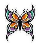 Colour Butterfly Temporary Tattoos