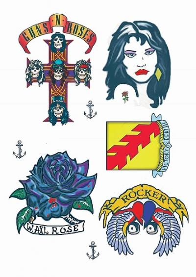 Rocker Inspired Temporary Tattoos