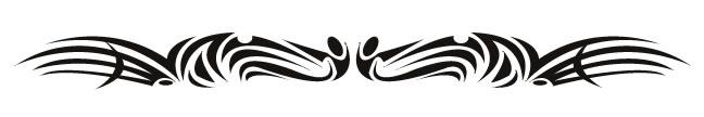 Temporary tribal armband tattoo