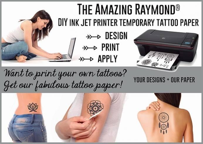 Diy ink jet printer temporary tattoo paper misc for How to make temporary tattoos with printer