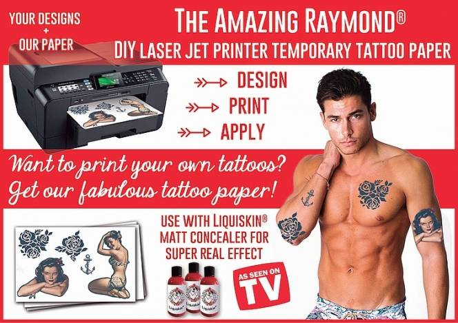 graphic regarding Printable Temporary Tattoos identified as Do-it-yourself Short-term Tattoos Laser Printer Paper MISC momentary