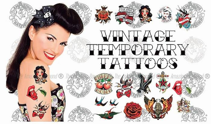 Vintage Rockabilly Temporary Tattoos